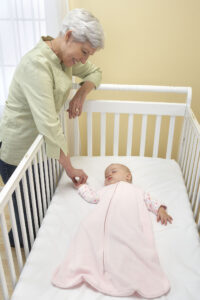 Grandmother with Sleeping Baby